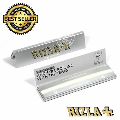 RIZLA Regular Genuine GREEN SILVER BLUE Cigarette Rolling Papers ORIGINAL 2