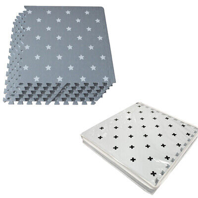 Large 6PC Kids Playmat Children Toddler Living Rooms Soft Foam Game Puzzle Mat 2