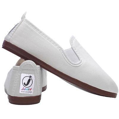 Ladies Women's  Javer Flossy Style  Plimsolls Espadrilles Flat Shoes New 7