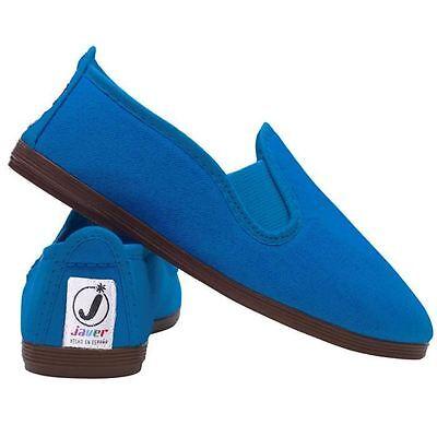 Ladies Women's  Javer Flossy Style  Plimsolls Espadrilles Flat Shoes New 5
