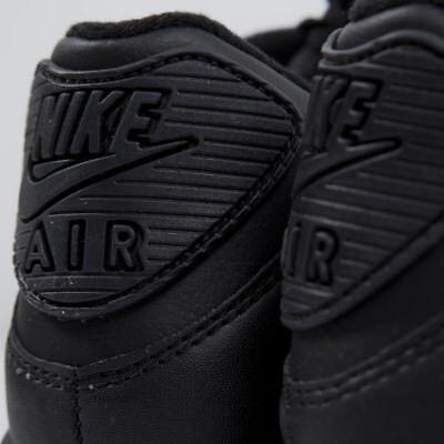 Nike Air Max 90 Leather All Black New Men Roshe Huarache Presto Retro 302519-001 4