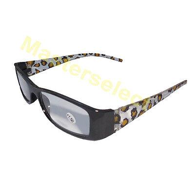 809b9e72ec4d1 ... Lunettes Loupe De Vue Lecture Presbyte leopard monture noir avec cordon  2