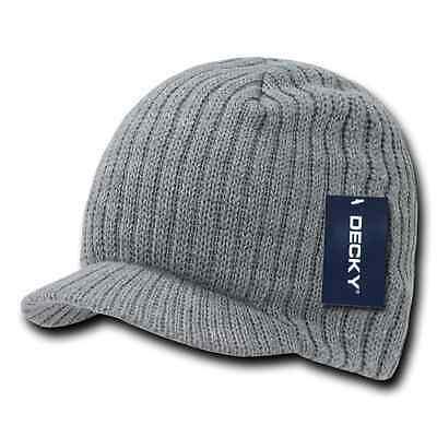 Decky GI Light Weight Beanies Striped Solid Caps Hats Visor Winter 5