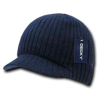 Decky GI Light Weight Beanies Striped Solid Caps Hats Visor Winter 6