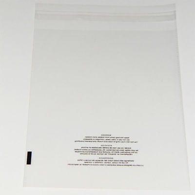 200 10x13 Poly Bags Resealable Suffocation Warning Clear Bag 1.5 mil 100 x 2 3