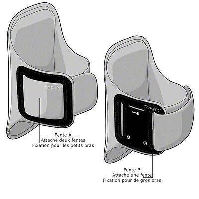 Brassard Sport Pour Samsung S8 S7 S6 S6 Edge S5 S4 S3 Coque Etui Ecouteur Argent