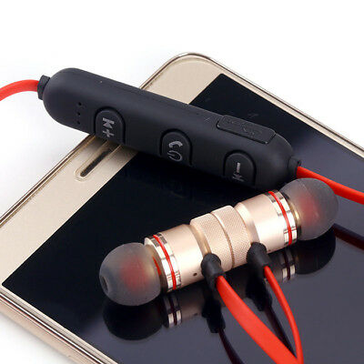 Magnet Wireless In-Ear Sports Earphone Headset Headphone For iPhone Samsung 2