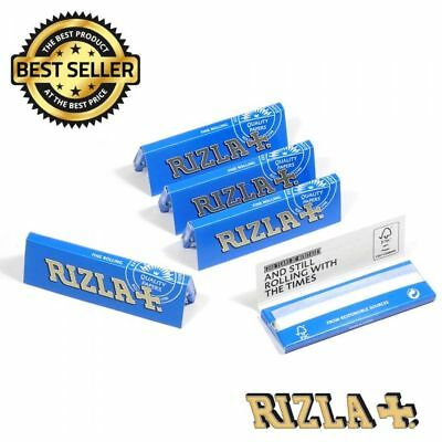 RIZLA Regular Genuine GREEN SILVER BLUE Cigarette Rolling Papers ORIGINAL 3