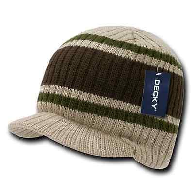 Decky GI Light Weight Beanies Striped Solid Caps Hats Visor Winter 9