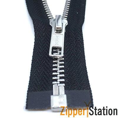 Black 91cms to 300cms Beige Zipper YKK Extra Long Metal Open End Zips