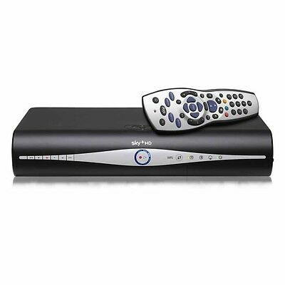 Sky + Plus Hd Box 500Gb Slim Line Receiver/Recorder With Remote And Power Cable! 8
