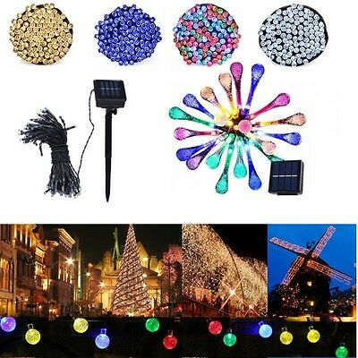 50 100 200 LED Solar Power Fairy Lights String Garden Outdoor Party Wedding Xmas 2