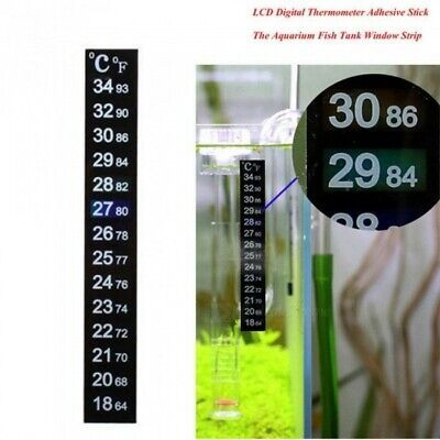 Tank Temperature Sticker Adhesive Sticky Scale Aquarium Fish Thermometer 6