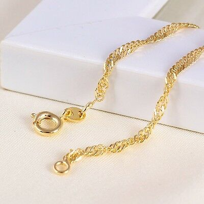 """9ct 9K Yellow /""""Gold Filled/"""" Young Boys Girls Figaro NECKLACE CHAIN.13.78/"""" 724"""