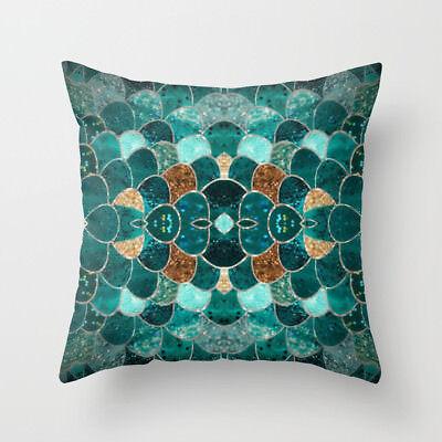 Polyester pillow case cover green leaves throw sofa car cushion cover Home Decor 5