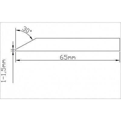 Hardox 450 Schneidenstahl / Messerschiene zum einschweißen T=6mm