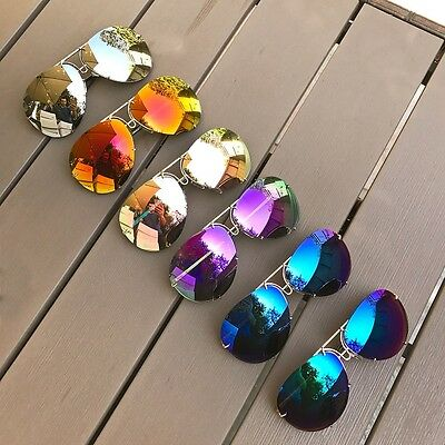 f686e7e8f0 ... Candy HOT Colors Oversized Large XL Porshe LUX BIG Metal Aviator  Sunglasses 4163 4