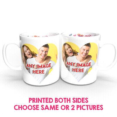 PERSONALISED PHOTO MUG CUSTOM CUP NAME GIFT DESIGN his/ hers love Valentines 2