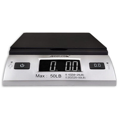 Accuteck S 50lbx0.2oz All-In-One Digital Shipping Postal Scale W/AC Postage