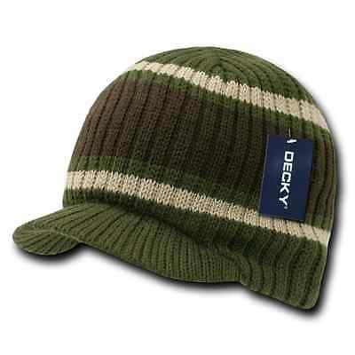 Decky GI Light Weight Beanies Striped Solid Caps Hats Visor Winter 10