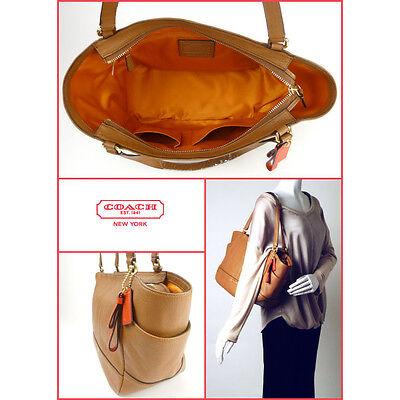 9b2b137807d5 ... NWT COACH F23284 Tote Bag Smooth Park Leather Carryall British Tan  Handbag Purse 5