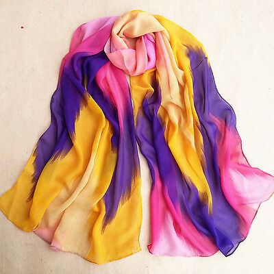 Ladies Musical Note Chiffon Neck Womens Scarf Wrap Shawl Stole Muffler Scarves