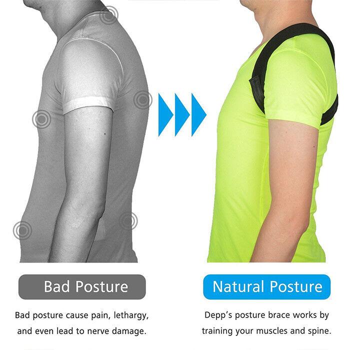 Correcteur Posture Epaule Dos Arrière Reglable Entretoise Ceinture Sangle M 5