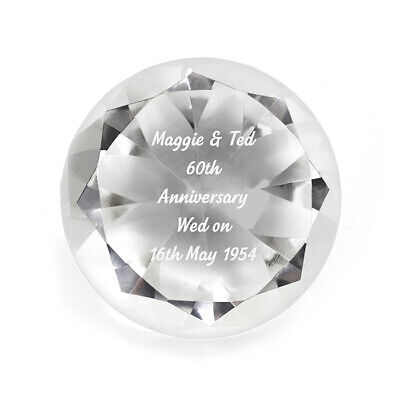Personalised Engraved Diamond Paperweight - Mothers Day, Birthdays, For Her 3