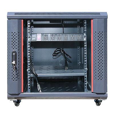 """12U 35"""" Deep Server IT Network Enclosure Rack Cabinet FITS MOST SERVER EQUIPMENT 2"""