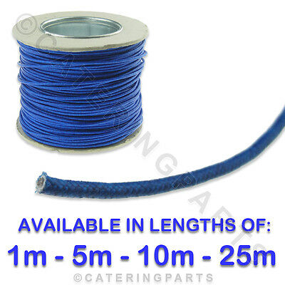 Various Lengths Blue 1.5Mm Heat Resistant Fibre Insulated Wire Cable 1,5,10,25M 2