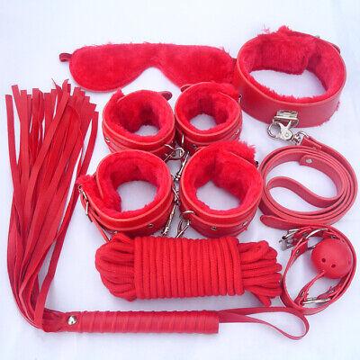 Set Kit 8 Pezzi Slave Costrittivo Slave Manette Morso Frusta Mascherina Pinze 2
