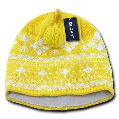 dedb868e0991ef ... Decky Nordic Style Beanies Snowflake Pom Knit Snowboard Hats Caps Warm  Winter 4
