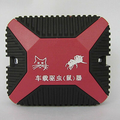 High-Tech 12V Dual Ultrasonic Engine Wire Protection Mouse Chaser Rats Repeller 5