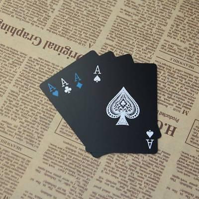 Creative Waterproof Black Plastic PVC Poker Magic Table Board Game Playing Cards 3