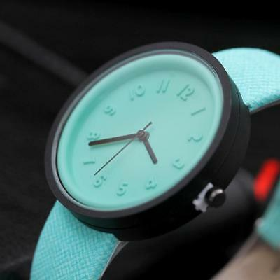 Simple Unisex Men Womens Canvas Strap Roman Number Quartz Analog Wrist Watch 8