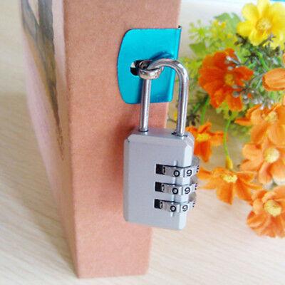 4,2,1 x Travel Luggage Locks Combination 3 Dial Code PadLock Suitcase Security 6