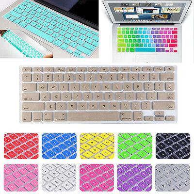 Silicone US Keyboard Cover Skin for Macbook Air Pro Retina MAC 13 15 17