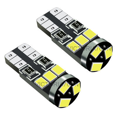 Fits Mini Cooper S JCW R56 8SMD LED Error Free Canbus Side Light Beam Bulbs Pair