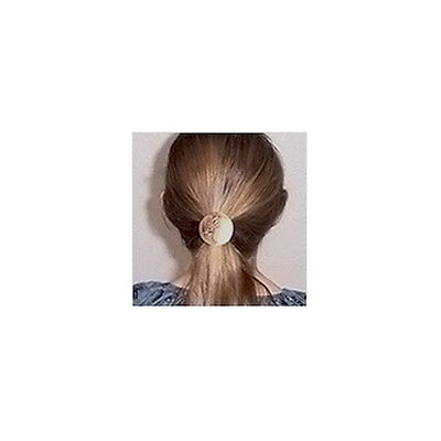 Celtic Hexagon Knot Nickel Silver Hair Tie NHT-5 6