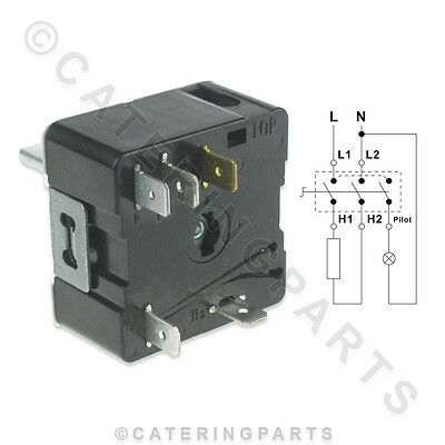 En06 Universal Energy Regulator Simmerstat Push & Turn 240V 15 Amp Simmer Stat 3