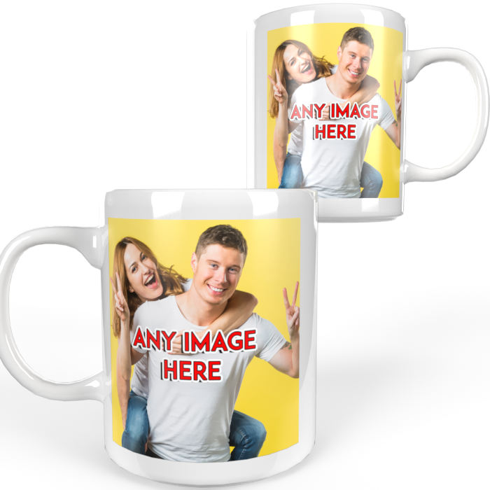 Personalised Photo text Mug Christmas Fathers Mothers Friends Birthday Gift 2