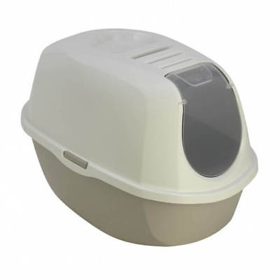 MAISON DE TOILETTE CHAT/BAC LITIERE CHAT avec FILTRE ANTI ODEUR AS97417FI-taupe 2