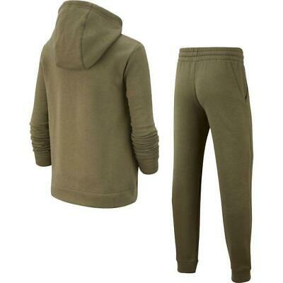 Nike Junior Boys Fleece Sportswear Lifestyle Tracksuit Track suit Khaki Olive 2