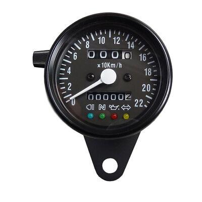 Mini Tachometer mit Kontrolleuchten schwarz matt für Japan und USA Motorrad