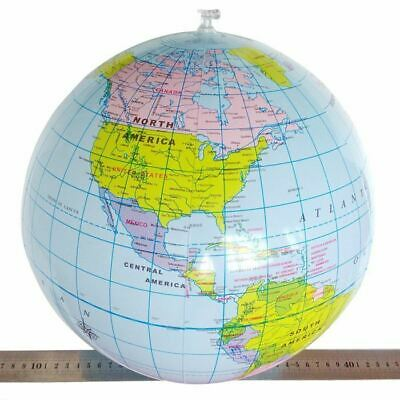 40cm Inflatable Globe Map Ball World Earth Geography Blow Up Atlas Education Toy 5