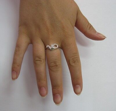 STYLISH STERLING SILVER RING SOLID 925 WITH 9X7mm OVAL CZ EMPRESS R001452