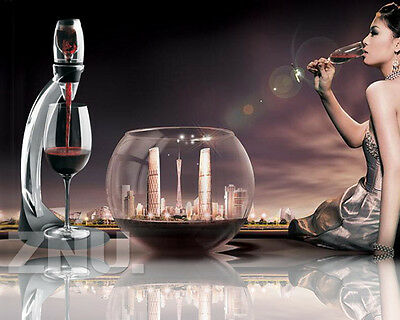 Red Wine Aerator Filter & Decanter w/ Stand Bar Accessory Gift SET 3