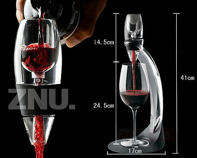 Red Wine Aerator Filter & Decanter w/ Stand Bar Accessory Gift SET 5