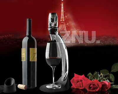 Red Wine Aerator Filter & Decanter w/ Stand Bar Accessory Gift SET 4