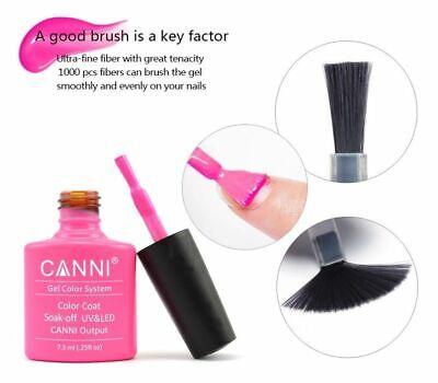 Nail gel polish set CANNI Soak off UV LED Colour Glitter Base Top Coat Varnish 9